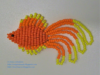 Beaded goldfish