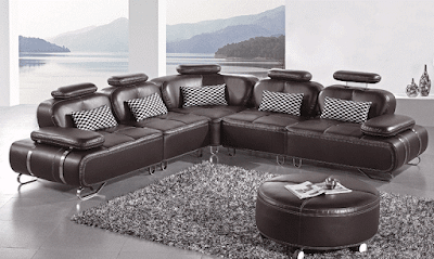 Valkiria Modular Leather Sectional Sofa Furniture