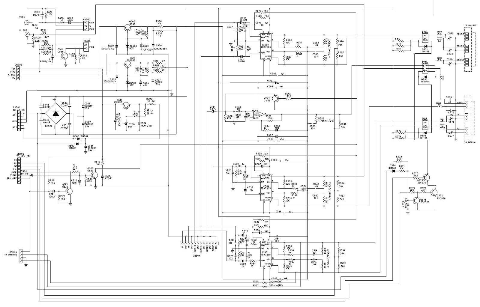 Akira Hts28dvd Home Theater System Schematic Diagram Auto Bose 5 1 Wire Systems Wiring Diagrams