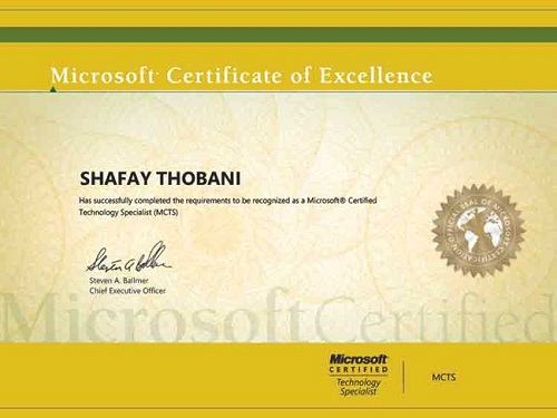 Shafay Thobani Another World's Youngest Microsoft Certified Professional From Pakistan After Arfa Karim
