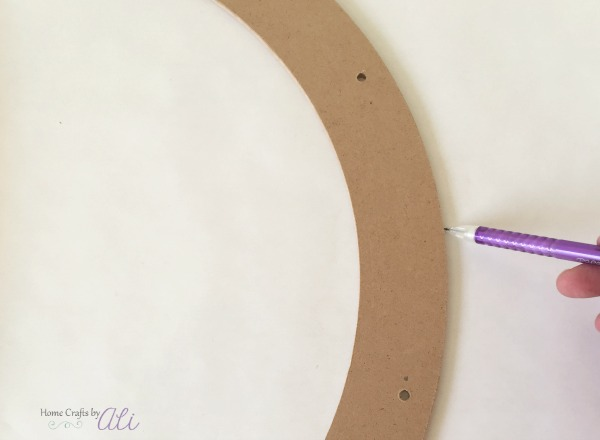 step by step craft wreath tutorial