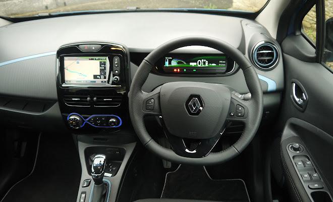 Renault Zoe 40 drivers view