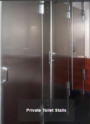 The Newport 1600 VIP Bathroom Stalls
