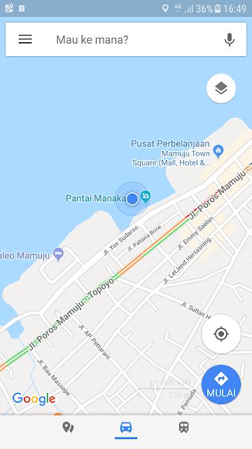 Foto Google Map Pantai Manakarra Sulawesi Barat