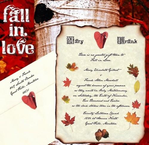 Fall Wedding Invitations: Fall Autumn Wedding Invitations: Standout Fall Wedding