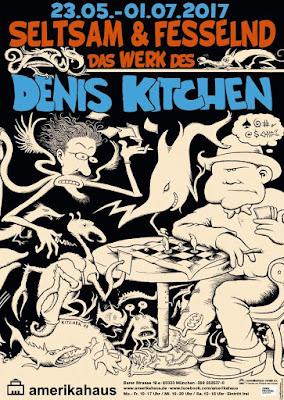 Am 22. Mai startet im Amerikahaus München eine Werkschau des US-Zeichners Denis Kitchen