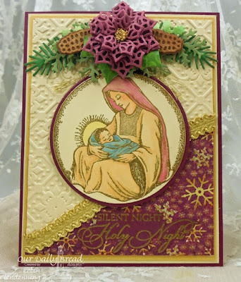 Our Daily Bread Designs, Mother & Child Ornament, Blessed Christmas, Leafy Edged Border, Peaceful Poinsettia, Merry Mosaics, Lovely Leaves, Pinecones, Circle Ornaments, Matting Circles, Christmas Paper Collection 2015, By Robin Clendenning
