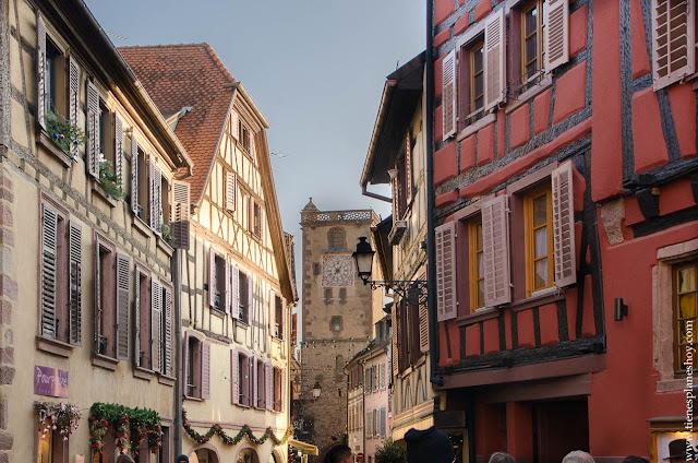 Ribeauville pueblo Alsacia Francia