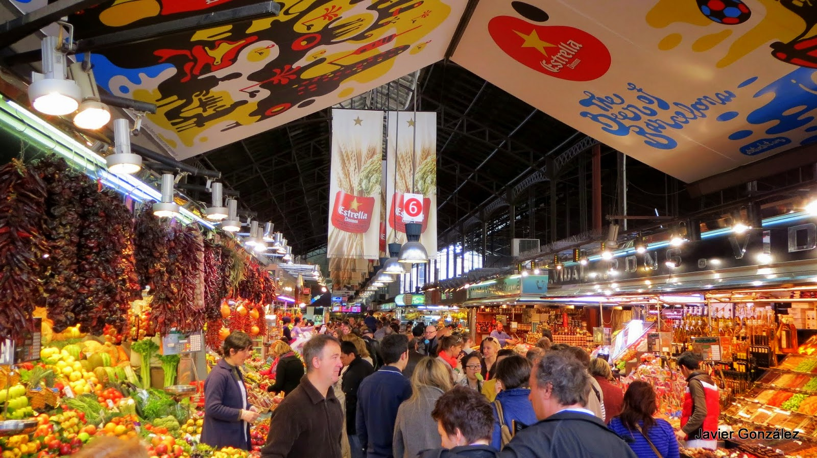 Mercado de la Boquería.Barcelona