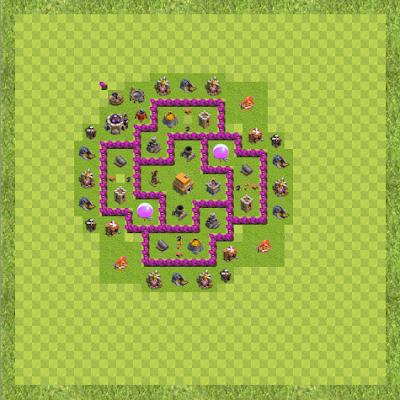 War Base Town Hall Level 6 By Hitesh Poddar (bbj TH 6 Layout)