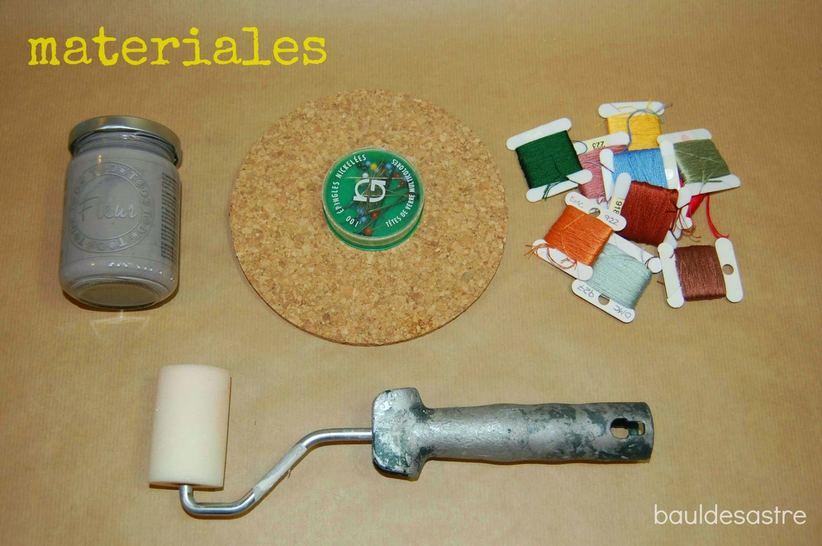 materiales para string art