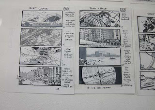Storyboard of Boat Chase Scene.