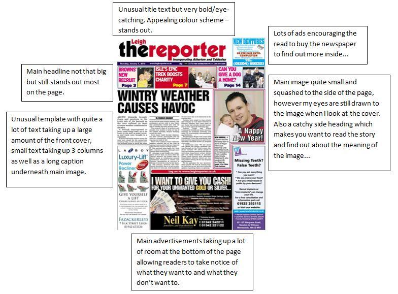 An analysis of three major headline news