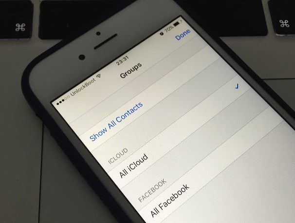 how to remove facebook contacts from iphone 6