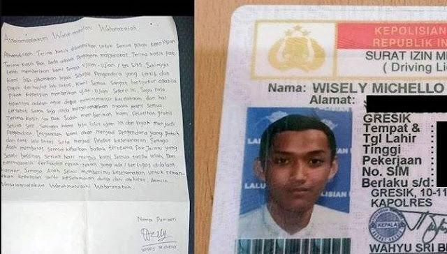 Setelah Lulus Tes SIM Pemuda ini Tulis Ucapan Terima Kasih ke Polisi Jadi Viral
