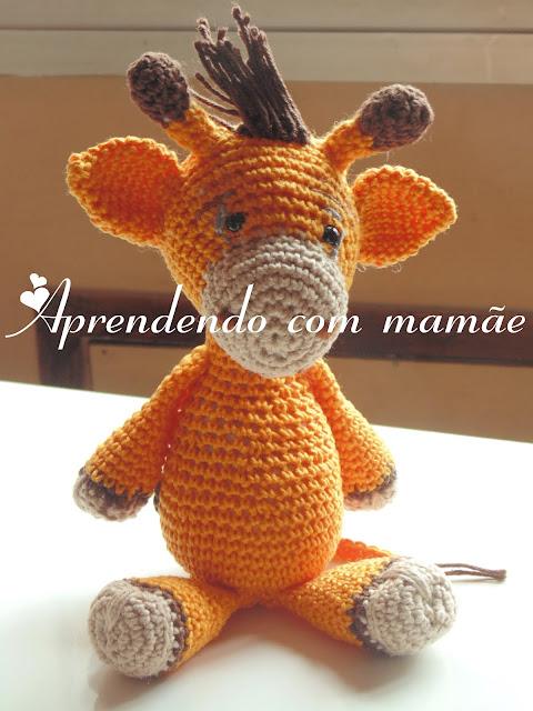amigurumis safári, Girafa Gika, Círculo, amigurumi, crochê, e-book amigurumis círculo, ponto baixo crochê, boneco em crochê