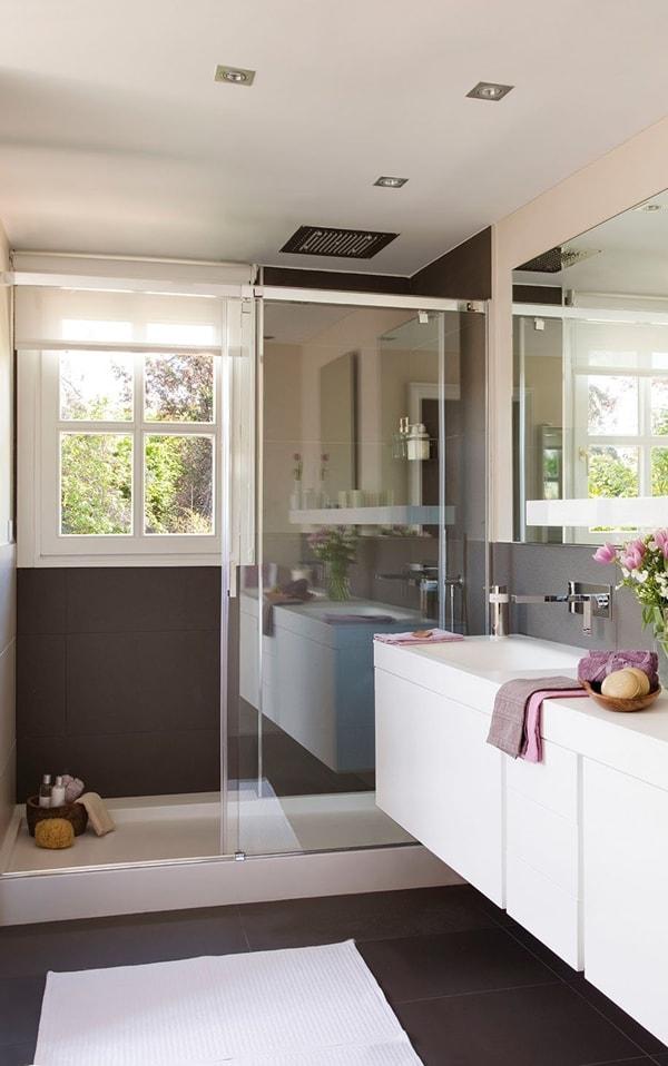Revestimientos adecuados para un baño elegante