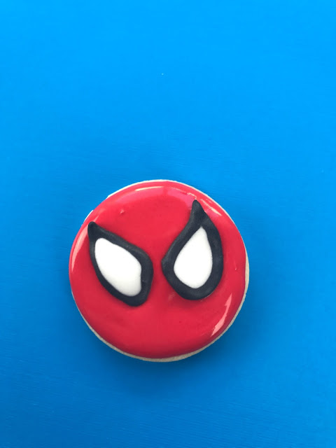 spiderman homecoming decorated cookie tutorial and video