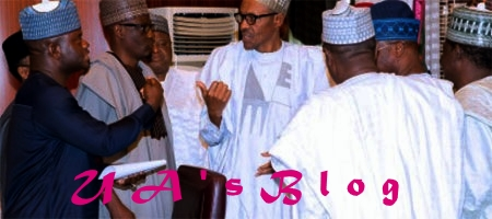 President Buhari meets APC Governors in Aso Rock
