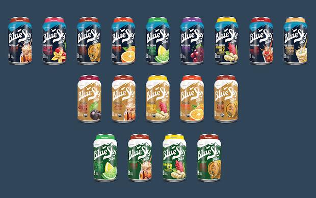 Blue Sky Soda Packaging Of World - Creative Package