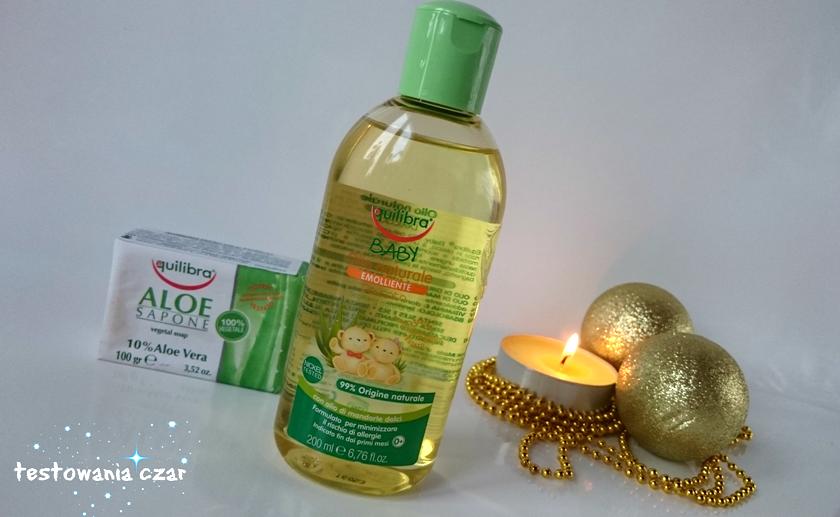 Naturalna oliwka pielęgnacyjna i mydełko aloesowe od Equilibra