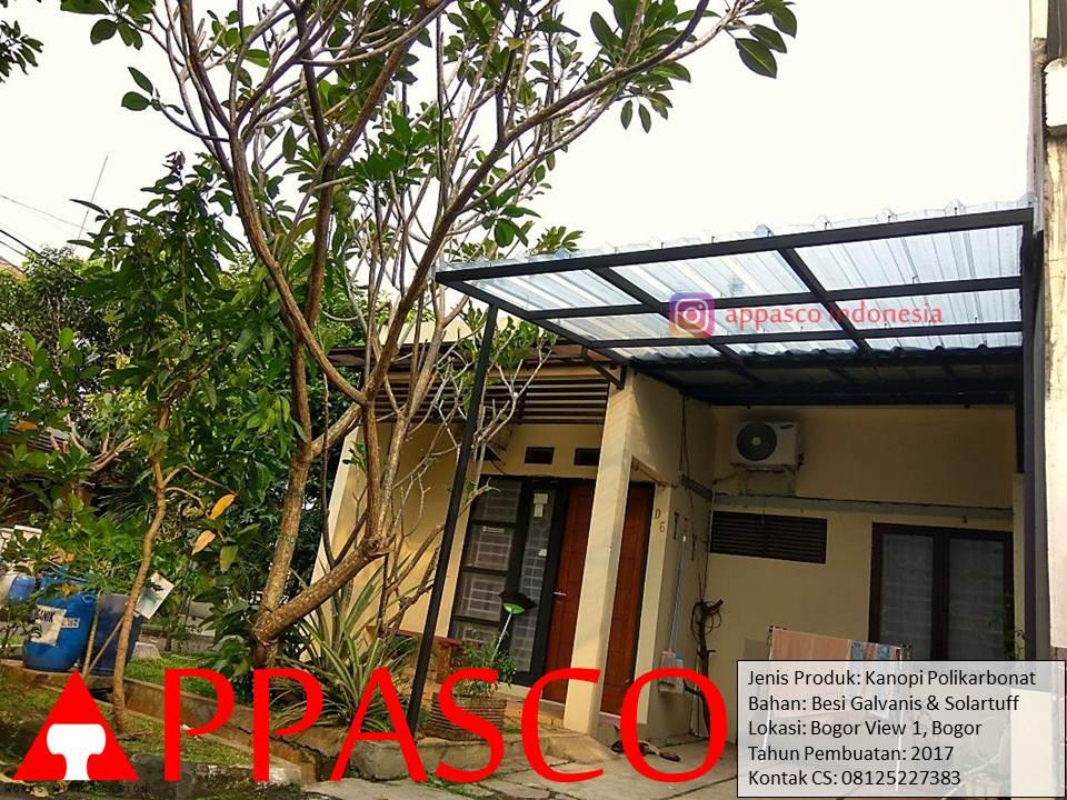 Kanopi Polikarbonat Solartuff di Bogor View