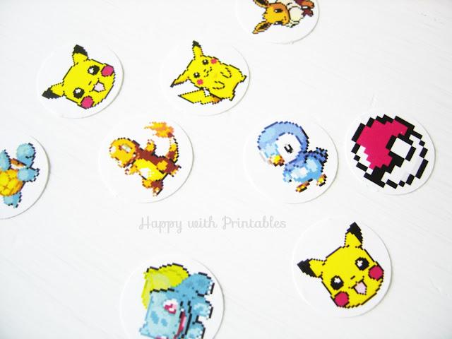 DIY pokémon stickers,pokémon go, pikachu sticker,pikachu,pokemon,pokemon crafts, back to school stickers,pokemon party