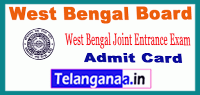 West Bengal Board Joint Entrance Exam Admit Card