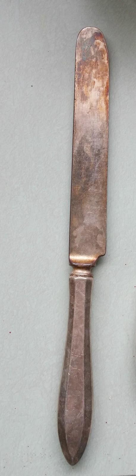 vintage silver knife
