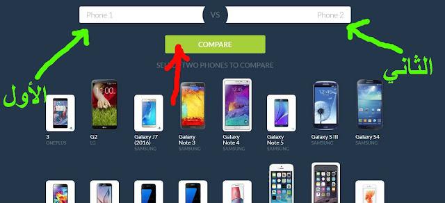 موقع معرفة اسعار الموبايلات ومواصفاتها مقارنة اسعار الهواتف ونوعها بسهولة