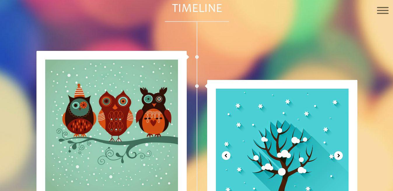 Timeline Responsive Website Template Adonai Infotech