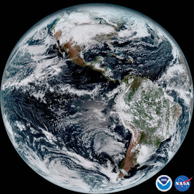 GOES-16 Earth  . Credit: NOAA/NASA