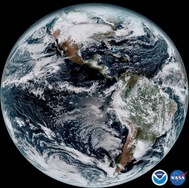 יבשת אמריקה GEOS-16 מקור NOAA.NASA