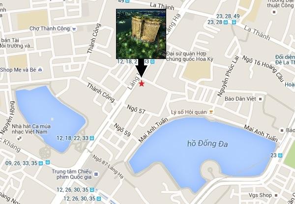 Vị trí Sun Grand City Láng Hạ