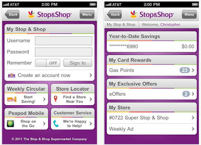 Stop and shop iPhone app
