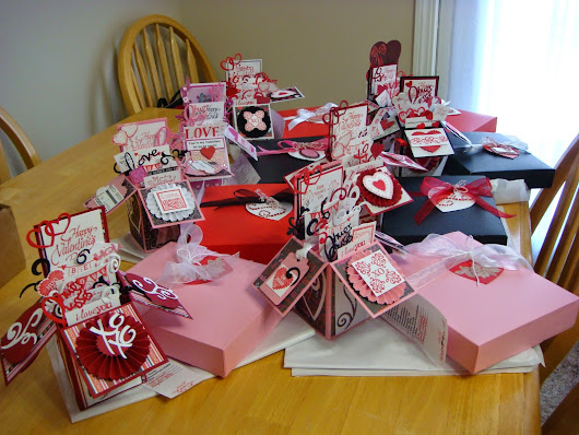 Valentine Pop-Up Boxes--Love is in the Air! Using my Stash!
