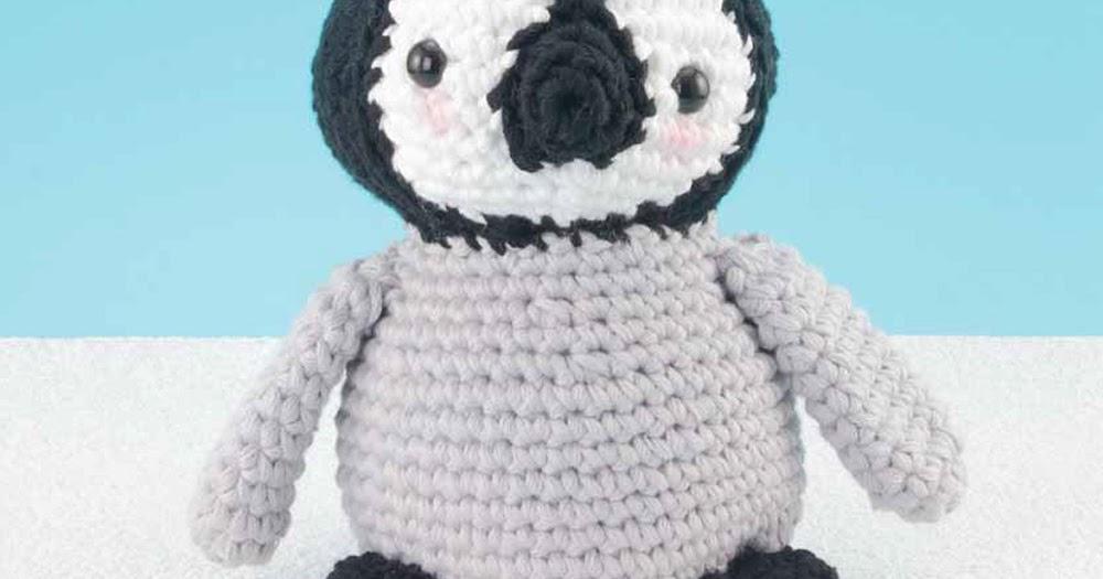 Lujo Pingüino Patrón De Crochet Libre Ornamento - Manta de Tejer ...