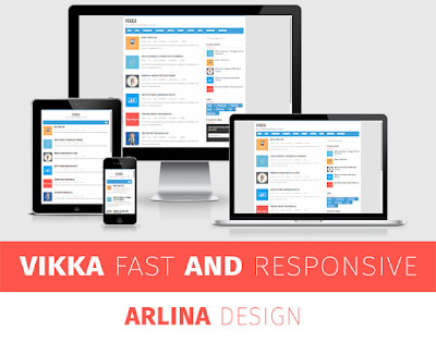 Vikka Blogger Template
