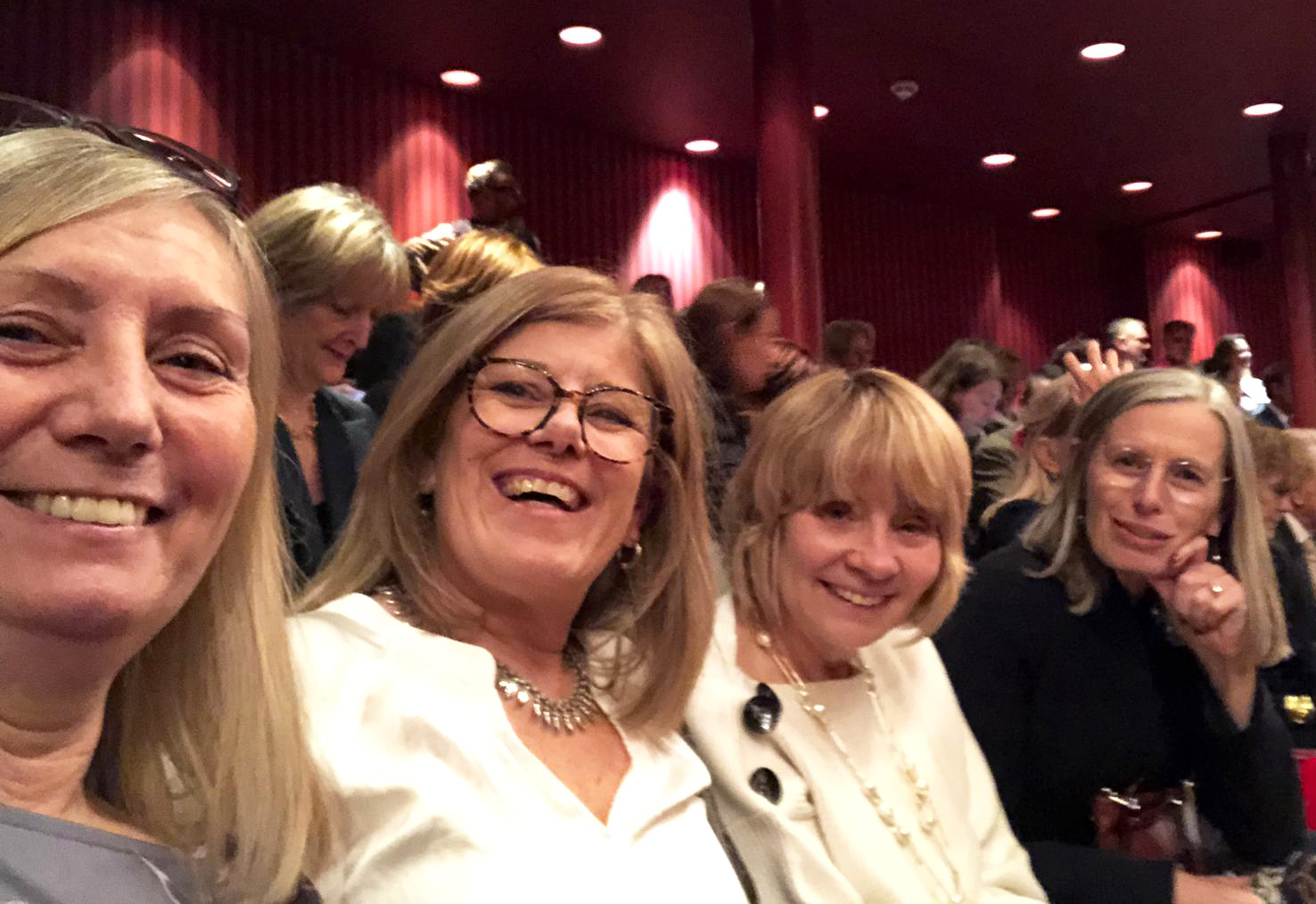 Is This Mutton'#s Gail Hanlon - third from left - with her three sisters-in-law at the Royal Ballet production of Don Quixote