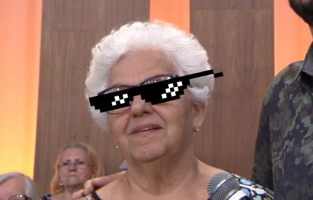 Dona Regina opina sobre crianças na mostra do MAM na Globo