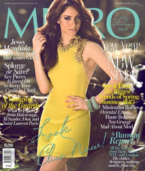 Jessy Mendiola Covers Metro Magazine February 2013 Issue