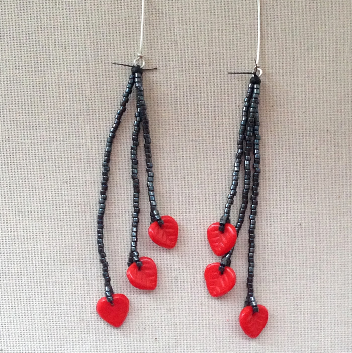 Free DIY Jewelry Project - tassel beaded earrings: Lisa Yang's Jewelry Blog