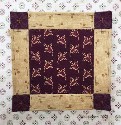 Dear Jane Quilt - Block B13 Four Corner Press