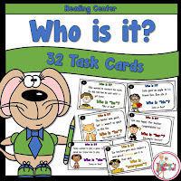 Who is it? task cards to help with reading comprehension. Know those pronouns!