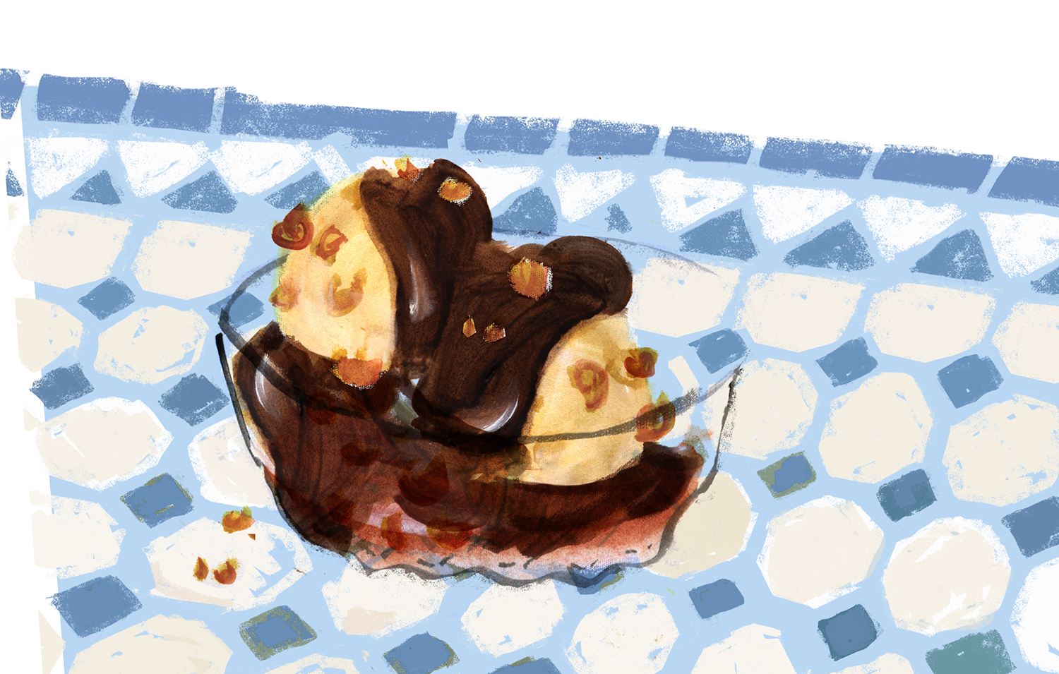 Halvah Ice Cream, Shavuot, Lauren Monaco Illustration
