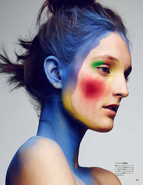 "A ""Vogue"" Japan beauty editorial by Violette. Photo: Ben Hassett"