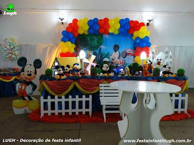 Decoração infantil do Mickey