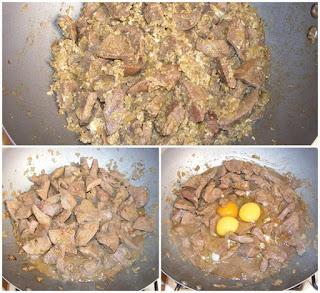 ficat de porc cu sunculita si oua la tigaie, cum facem compozitia de pate de casa cu ficat de porc, retete culinare,