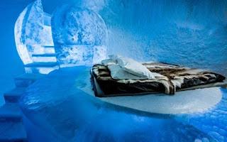 Vẻ đẹp ấn tượng bên trong khách sạn băng giá ở Thụy Điển 4