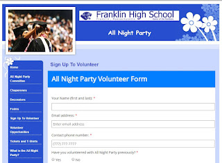 Volunteers needed for the Franklin High School All Night Party